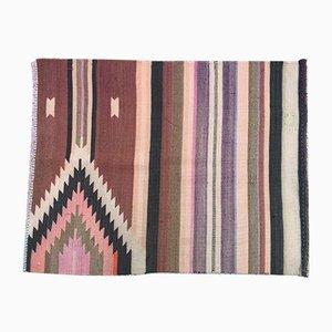 Vintage Turkish Shabby Woolen Kilim Rug 100x77cm