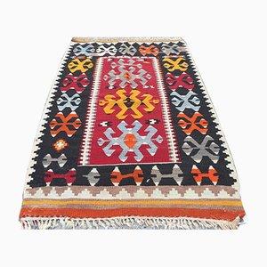 Vintage Turkish Shabby Woolen Kilim Rug 120x79cm