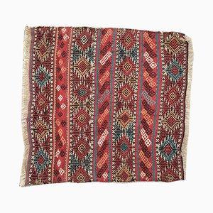 Türkischer Vintage Shabby Kelim Wollteppich 95x93cm