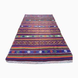 Large Vintage Turkish Shabby Woolen Kilim Rug 355x199cm