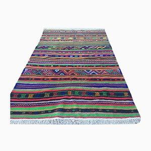 Vintage Turkish Shabby Woolen Kilim Rug 280x180cm