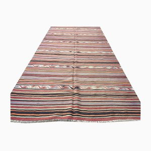 Vintage Turkish Shabby Woolen Kilim Rug 385x147cm