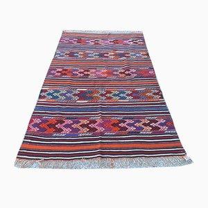 Vintage Turkish Shabby Woolen Kilim Rug 250x153cm