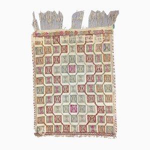 Small Vintage Turkish Moroccan Shabby Wool Kilim Rug 115x90cm