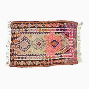 Small Vintage Turkish Moroccan Shabby Wool Kilim Rug 140x94cm