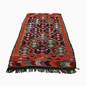 Small Vintage Turkish Moroccan Shabby Kilim Rug 130x90 cm