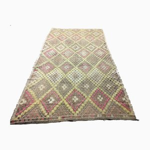 Large Antique Turkish Moroccan Shabby Kilim Rug 288x162 cm