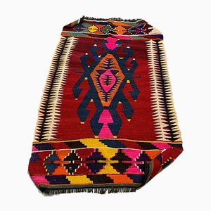 Small Vintage Turkish Moroccan Shabby Kilim Rug 120 x 76 cm