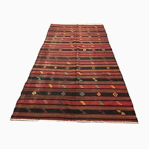 Large Vintage Turkish Shabby Kilim Rug 300 x 162 cm
