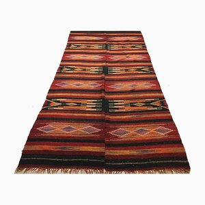 Large Vintage Turkish Shabby Kilim Rug 345x170 cm