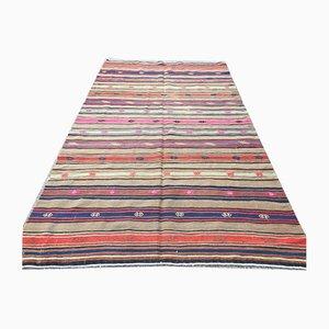 Tapis Kilim Shabby Vintage, Turquie, 247x145cm