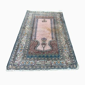 Antique Turkish Shabby Silk Tribal Rug 128x79cm