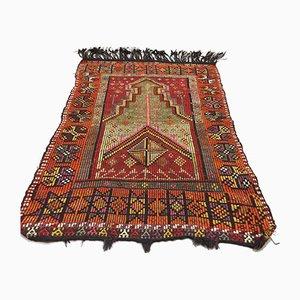 Türkischer Mittlerer Marokkanischer Mid-Shivery Kilim Teppich aus Shabby Wolltedel 148x105cm