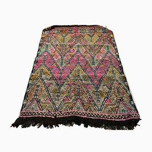 Small Vintage Turkish Moroccan Shabby Wool Kilim Rug 130x90 cm