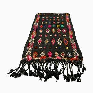 Small Vintage Turkish Moroccan Shabby Wool Kilim Rug 123x71 cm
