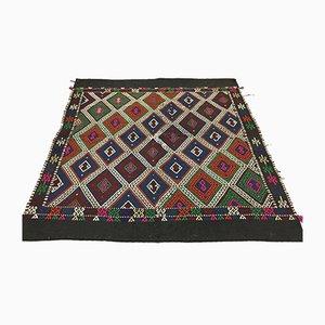 Türkischer Marokkanischer Vintage Shabby Quadratischer Kilim Teppich 165x158cm