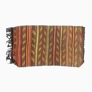 Small Vintage Turkish Moroccan Shabby Wool Kilim Rug 141x80cm