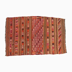 Large Vintage Turkish Moroccan Shabby Wool Kilim Rug 290x146cm