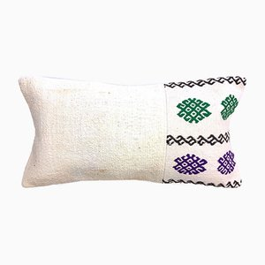 Vintage Turkish Moroccan Colourful Wool Kilim Cushion Cover 60x30 cm