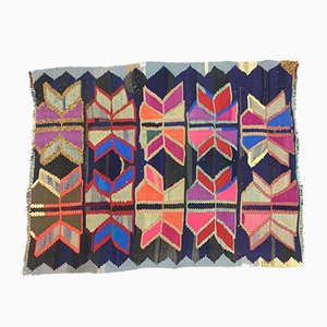 Vintage Turkish Medium Sized Colourful Shabby Kilim Rug 145x110cm