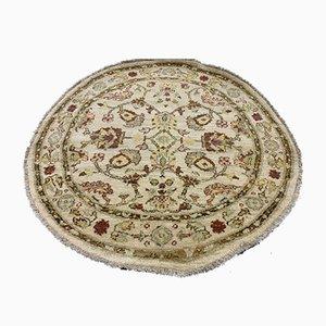 Circular Afghan Handmade Natural Dye Ziegler Rug 120 cm