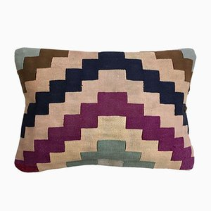 Vintage Turkish Moroccan Colourful Wool Kilim Cushion Cover 60x30 cm