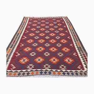 Vintage Afghan Handmade Wool Tribal Kilim Rug 293x206cm
