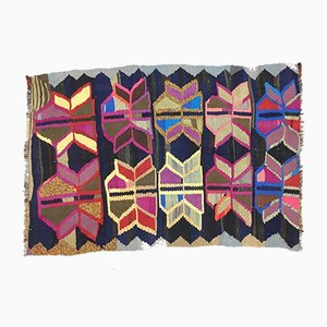 Vintage Turkish Medium Sized Colorful Shabby Kilim Rug 152x106cm