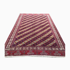 Vintage Turkmen Handmade Wool Rug 245x162cm