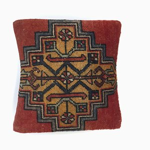 Vintage Turkish Moroccan Distressed Carpet Cushion Cover