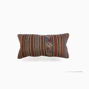 Vintage Turkish Moroccan Colorful Wool Kilim Cushion Cover