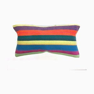 Vintage Turkish Moroccan Colorful Wool Kilim Cushion Cover