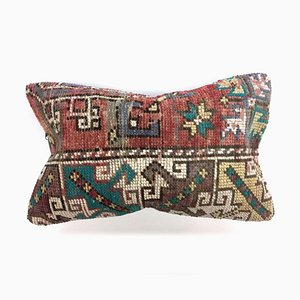 Vintage Turkish Moroccan Handmade Colorful Wool Distressed Cushion Cover