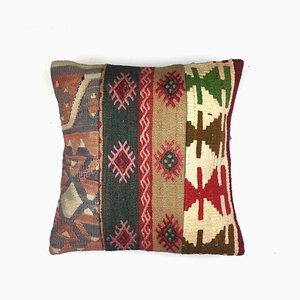 Vintage Turkish Moroccan Colourful Wool Kilim Cushion Cover