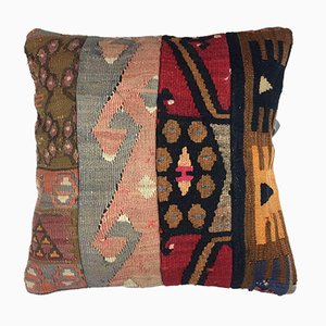Vintage Turkish Moroccan Colorful Wool Kilim Cushion Cover 40x40cm