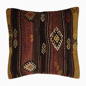 Vintage Turkish Moroccan Colorful Wool Kilim Cushion Cover 50x50 cm