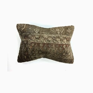 Vintage Turkish Moroccan Distressed Handmade Carpet Cushion Cover