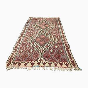 Large Vintage Turkish Moroccan Shabby Wool Kilim Rug 230x129cm