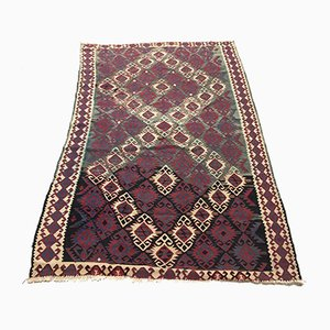 Large Vintage Turkish Moroccan Shabby Wool Kilim Rug 200x125cm