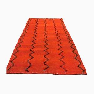 Vintage Turkish Moroccan Medium Sized Shabby Wool Kilim Rug 193x108cm