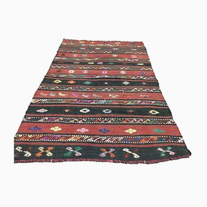 Vintage Turkish Moroccan Medium Sized Shabby Wool Kilim Rug 188x120cm