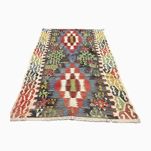 Vintage Turkish Moroccan Medium Sized Shabby Wool Kilim Rug 180x125cm