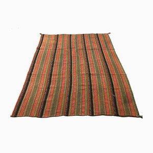 Large Vintage Turkish Shabby Wool Kilim Rug 240x193 cm