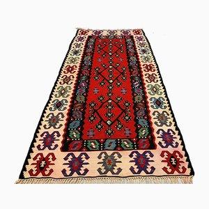 Vintage Turkish Serbian Shabby Wool Kilim Pirot Rug 200 x 100 cm