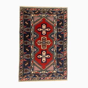 Vintage Turkish Vegetable Dye Tribal Rug 195x128 cm
