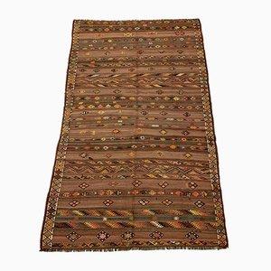 Large Vintage Turkish Wool Kilim Rug 256x156 cm