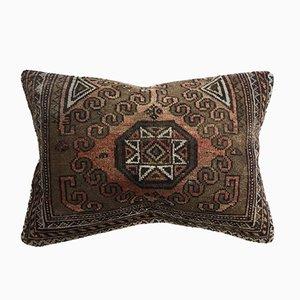 Vintage Turkish Moroccan Handmade Distressed Carpet Cushion Cover