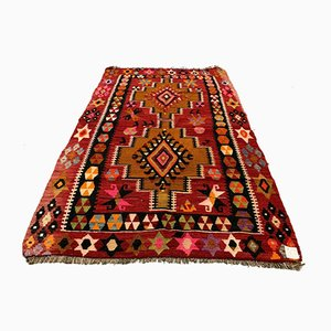Vintage Turkish Medium Sized Shabby Kilim Rug 172x110 cm