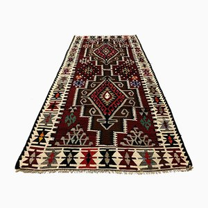 Vintage Turkish Medium Sized Shabby Kilim Rug 230 x 113 cm