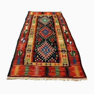 Vintage Turkish Medium Sized Shabby Kilim Rug 188x101 cm